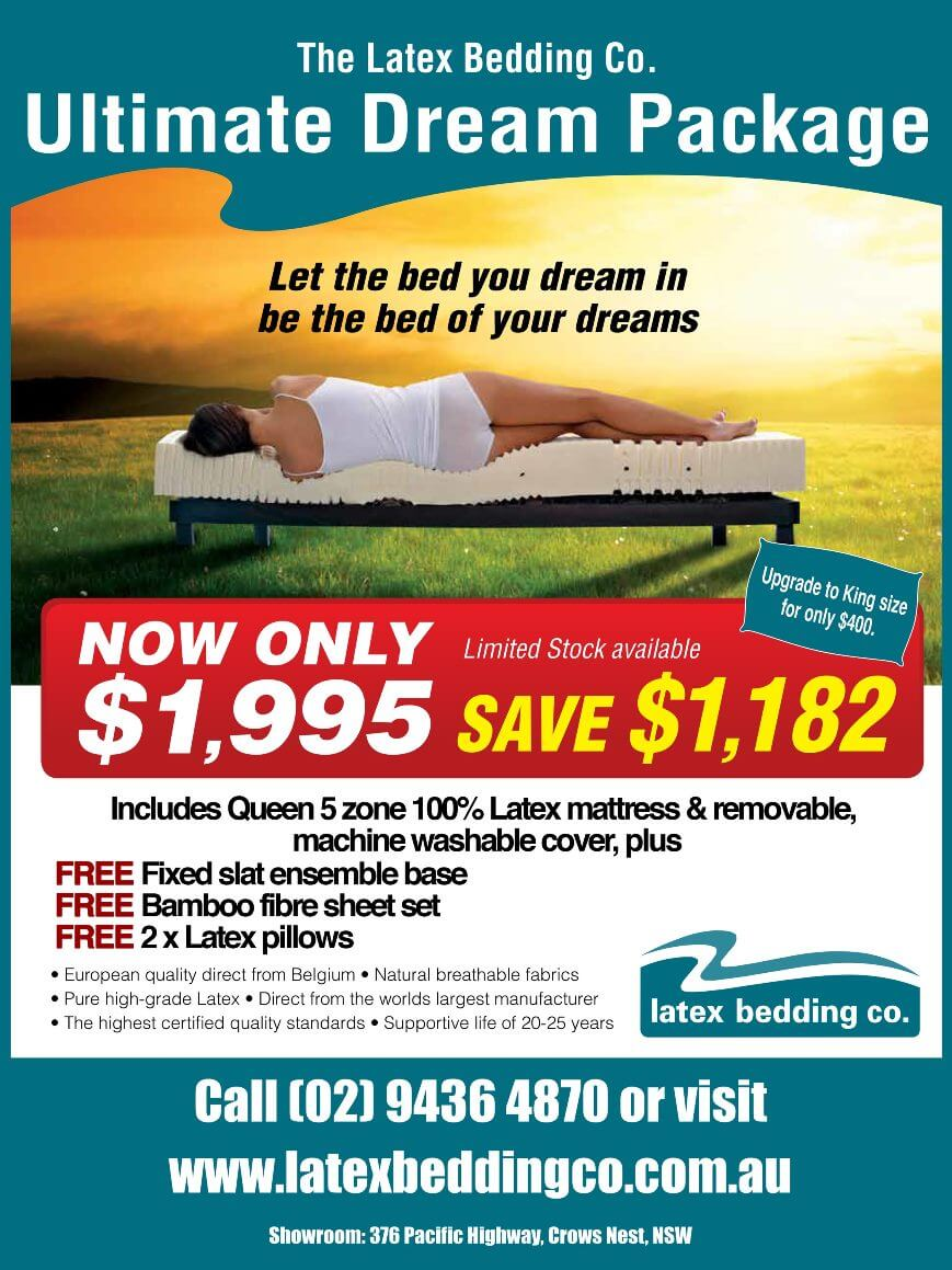 Latex mattress package & latex topper sale now on!
